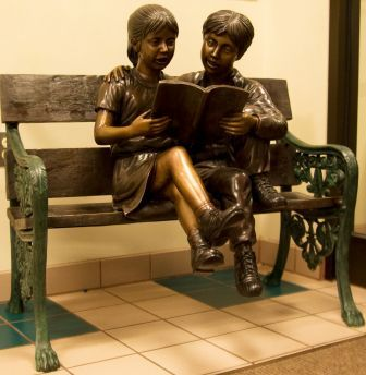 Children on a Bench by Foundry