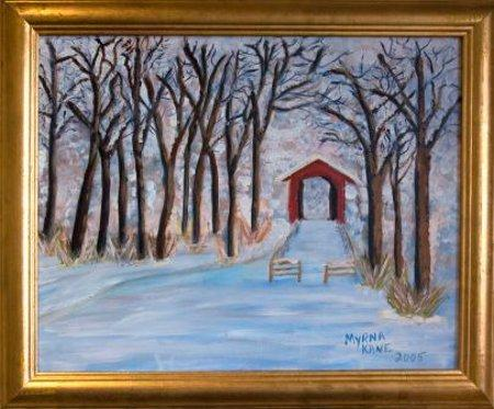 Glenarm Covered Bridge by Myrna Kane