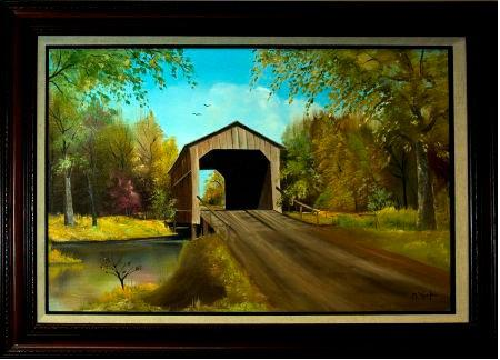Sugar Creek Covered Bridge by Ruth O'Keefe