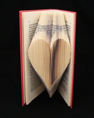 Folded book heart